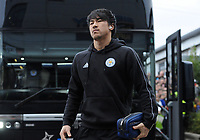 Leicester City's Shinji Okazaki arrives at Rodney Parade home of Newport County<br /> <br /> Photographer Ian Cook/CameraSport<br /> <br /> The Emirates FA Cup Third Round - Newport County v Leicester City - Sunday 6th January 2019 - Rodney Parade - Newport<br />  <br /> World Copyright © 2019 CameraSport. All rights reserved. 43 Linden Ave. Countesthorpe. Leicester. England. LE8 5PG - Tel: +44 (0) 116 277 4147 - admin@camerasport.com - www.camerasport.com