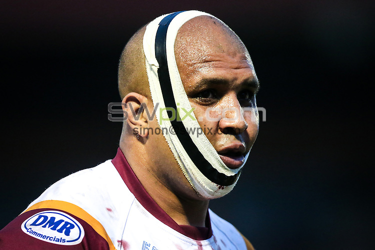 Picture by Alex Whitehead/SWpix.com - 06/05/2016 - Rugby League - 2016 Ladbrokes Challenge Cup, Sixth Round - Batley Bulldogs v Catalans Dragons - The Fox's Biscuits Stadium, Batley, England - Batley's Alex Rowe.