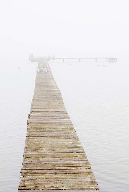 A Lone Pier on the Lamar Peninsular in Texas.