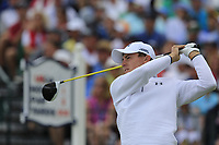 Matt Fitzpatrick (ENG) tees off the 1st tee to start his match during Sunday's Final Round of the 117th U.S. Open Championship 2017 held at Erin Hills, Erin, Wisconsin, USA. 18th June 2017.<br /> Picture: Eoin Clarke | Golffile<br /> <br /> <br /> All photos usage must carry mandatory copyright credit (&copy; Golffile | Eoin Clarke)