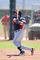 Cleveland Indians outfielder Josh McAdams (26) during an instructional league game against the Cincinnati Reds on September 28, 2013 at Goodyear Training Complex in Goodyear, Arizona.  (Mike Janes/Four Seam Images)