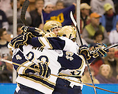 Stephen Johns (Notre Dame - 28) - The University of Notre Dame Fighting Irish defeated the University of New Hampshire Wildcats 2-1 in the NCAA Northeast Regional Final on Sunday, March 27, 2011, at Verizon Wireless Arena in Manchester, New Hampshire.