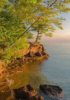 Early morning light bathes Big Bay Point on Lake Superior, Big Bay State Park, Ashland County, Wisconsin