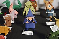 New York, NY, USA - June 24-25, 2017: OrigamiUSA 2017 Convention at St. John's University, Queens, New York, USA. JOAS exhibition of origami.