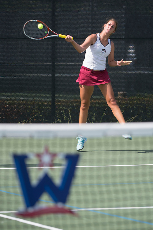 April 23, 2014; San Diego, CA, USA; Loyola Marymount Lions player Reka Rohonyi during the WCC Tennis Championships at Barnes Tennis Center.