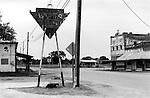 Urban street scene Mingus Texas USA 2001  .