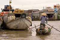 The morning floating market in the Mekong Delta of southern Vietnam