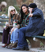 NEW YORK, NY November 07:Cate Blanchett, Rihanna,Director Gary Ross shooting on location for Ocean 8 in Central Park New York .November 07, 2016. Credit:RW/MediaPunch