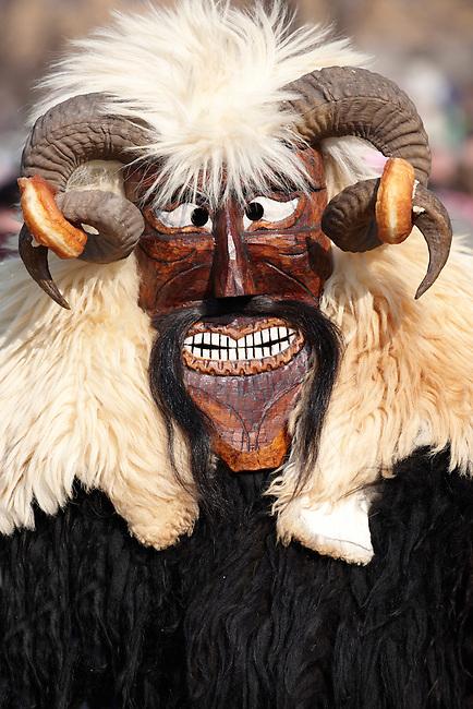 Buso at the Busojaras Spring  festival 2010 Mohacs Hungary - Stock photos