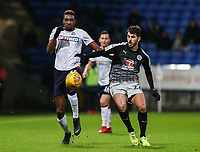Bolton Wanderers' Sammy Ameobi competing with Reading's Nelson Oliveira  <br /> <br /> Photographer Andrew Kearns/CameraSport<br /> <br /> The EFL Sky Bet Championship - Bolton Wanderers v Reading - Tuesday 29th January 2019 - University of Bolton Stadium - Bolton<br /> <br /> World Copyright © 2019 CameraSport. All rights reserved. 43 Linden Ave. Countesthorpe. Leicester. England. LE8 5PG - Tel: +44 (0) 116 277 4147 - admin@camerasport.com - www.camerasport.com