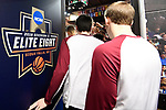 SIOUX FALLS, SD - MARCH 24: Northern State University players exit the locker room during the Division II Men's Basketball Championship held at the Sanford Pentagon on March 24, 2018 in Sioux Falls, South Dakota. Ferris State University defeated Northern State University 71-69. (Photo by Tim Nwachukwu/NCAA Photos via Getty Images)