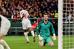 Spain's David de Gea and England's Raheem Sterling during UEFA Nations League 2019 match between Spain and England at Benito Villamarin stadium in Sevilla, Spain. October 15, 2018. (ALTERPHOTOS/A. Perez Meca)