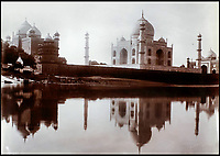 BNPS.co.uk (01202 558833)<br /> Pic: CanterburyAuctionGalleries/BNPS<br /> <br /> The Taj Mahal from the opposite side of the river. A Scottish photographer's stunning collection of photos of India and Afghanistan in the 1880s have been unearthed after 130 years.<br /> <br /> G.W Lawrie set up a studio in Lucknow, northern India in the 1880s and took captivating black and white photos of his new surroundings.<br /> <br /> Included in the collection of 40 photos are views of lavish temples including the King of Oudh's palace in Lucknow, opulent buildings and beautiful scenery.<br /> <br /> However, Lawrie was also interested in the native population and took photos of them going about their everyday lives.