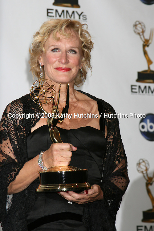 Glenn Close.in the Press Room  at the Primetime Emmys at the Nokia Theater in Los Angeles, CA on.September 21, 2008.©2008 Kathy Hutchins / Hutchins Photo....