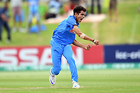 India's Kamlesh Nagarkoti celebrates the wicket of Australian captain Jason Sangha during the ICC U-19 Cricket World Cup 2018 Finals between India v Australia, Bay Oval, Tauranga, Saturday 03rd February 2018. Copyright Photo: Raghavan Venugopal / © www.Photosport.nz 2018 © SWpix.com (t/a Photography Hub Ltd)