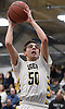 Pat Healy #50 of Northport hits a layup off an inbounds pass late in the fourth quarter of a Suffolk II boys basketball game against Connetquot at Northport High School on Wednesday, Jan. 9, 2019. He scored 13 points. Northport won by a score of 62-48.
