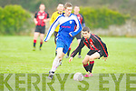 Shanakill Athletic's Robert Lynch and AC Athletic's Joesph Diggins in action at Mounthawk park, Tralee on Sunday.