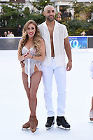 Alex Beresford &amp; Brianne Delcourt&nbsp; at the &quot;Dancing on Ice&quot; launch photocall at the Natural History Museum, London, UK. <br /> 19 December  2017<br /> Picture: Steve Vas/Featureflash/SilverHub 0208 004 5359 sales@silverhubmedia.com