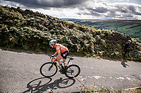 Annemiek van Vleuten (NED/Mitchelton-Scott) becomes the new World Champion after a mammoth 100+ km solo into Harrogate that started up Cray Hill<br /> <br /> Elite Women Road Race from Bradford to Harrogate (149km)<br /> 2019 Road World Championships Yorkshire (GBR)<br /> <br /> ©kramon