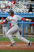 July 10th 2008:  Luis Sumoza of the Lowell Spinners, Class-A affiliate of the Boston Red Sox, during a game at Dwyer Stadium in Batavia, NY.  Photo by:  Mike Janes/Four Seam Images