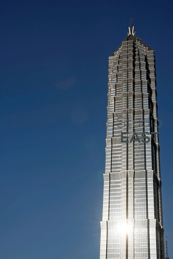 The Jinmao tower stands in Shanghai, China, on May 10, 2008. Photo by Lucas Schifres/Pictobank
