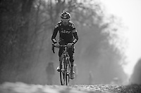 Paris-Roubaix 2013 RECON at Bois de Wallers-Arenberg..Chris Sutton (AUS)