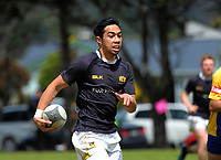Wellington College v Rongotai College Boys QF. 2017 Wellington Secondary Schools Condor Rugby Sevens tournament at Naenae College in Naenae, Wellington, New Zealand on Monday, 23 October 2017. Photo: Dave Lintott / lintottphoto.co.nz