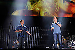 Josh Turner and Scotty McCreery perform at LP Field during the 2011 CMA Music Festival on June 11, 2011 in Nashville, Tennessee.