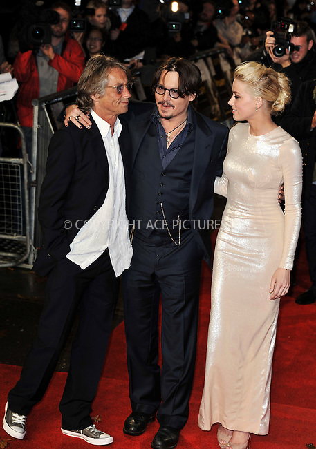 Bruce Robinson, Johnny Depp and Amber Heard at the premiere of 'The Rum Diary' in London - 03 November 2011 FAMOUS PICTURES AND FEATURES AGENCY 13 HARWOOD ROAD LONDON SW6 4QP UNITED KINGDOM tel +44 (0) 20 7731 9333 fax +44 (0) 20 7731 9330 e-mail info@famous.uk.com www.famous.uk.com FAM43058