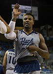 Nevada forward Jordan Caroline comes out of the game against Little Rock in the second half of an NCAA college basketball game in Reno, Nev., Friday, Nov. 16, 2018. (AP Photo/Tom R. Smedes)