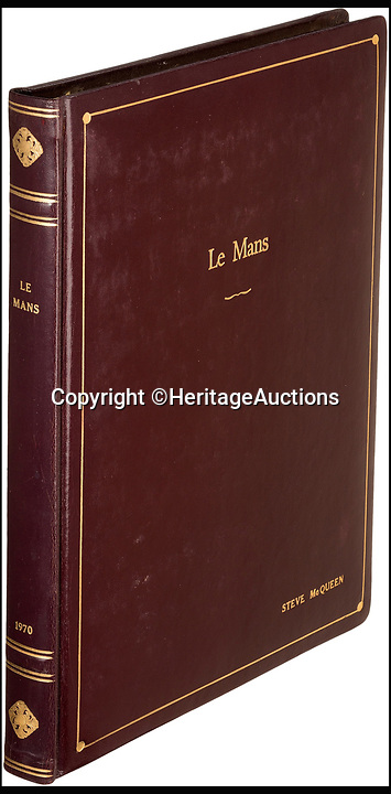 BNPS.co.uk (01202 558833)<br /> Pic: HeritageAuctions/BNPS<br /> <br /> Steve McQueen's Le Mans script sold for &pound;43,551.<br /> <br /> The script belonging to actor Steve McQueen for The Great Escape which is covered in his suggestions for scenes and his character has sold for ten times its estimate.<br /> <br /> McQueen's personal script for the classic 1963 war film was estimated to fetch &pound;4,000 at auction but sold for a whopping &pound;40,325 ($50,000).<br /> <br /> It was one of 18 McQueen scripts being sold by a collector who knew McQueen at Heritage Auctions in America. The whole collection had an estimate of &pound;50,000 but smashed the expected price, making a total of &pound;203,343 ($252,125).