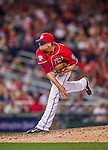 22 August 2015: Washington Nationals pitcher Blake Treinen on the mound against the Milwaukee Brewers at Nationals Park in Washington, DC. The Nationals defeated the Brewers 6-1 in the second game of their 3-game weekend series. Mandatory Credit: Ed Wolfstein Photo *** RAW (NEF) Image File Available ***