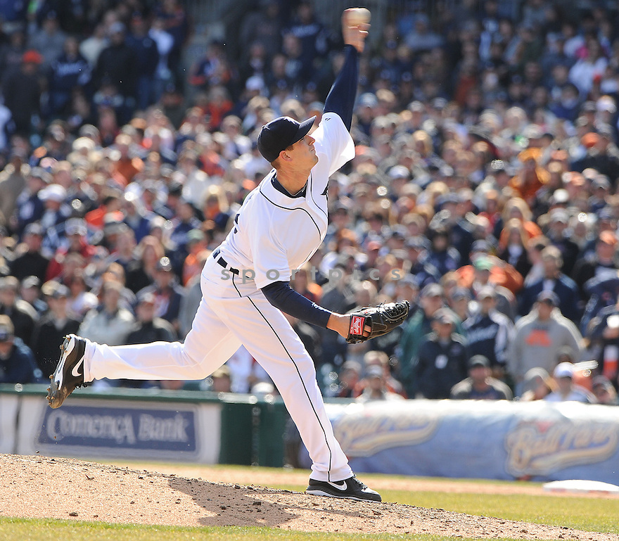 Detroit Tigers Drew Smyly (33)  during a game against the New York Yankees on April 5, 2013 at Comerica Park in Detroit, MI. The Tigers beat the Yankees 8-3.