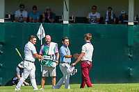 Zander Lombard (RSA) and Louis Oosthuizen (RSA) and Thomas Detry (BEL) during the 3rd round at the Nedbank Golf Challenge hosted by Gary Player,  Gary Player country Club, Sun City, Rustenburg, South Africa. 16/11/2019 <br /> Picture: Golffile | Tyrone Winfield<br /> <br /> <br /> All photo usage must carry mandatory copyright credit (© Golffile | Tyrone Winfield)