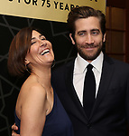 "Jeanine Tesori and Jake Gyllenhaal attend the New York City Center Celebrates 75 Years with a Gala Performance of ""A Chorus Line"" at the City Center on November 14, 2018 in New York City."