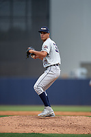 Lakeland Flying Tigers starting pitcher Jesus Rodriguez (37) during a Florida State League game against the Tampa Tarpons on April 7, 2019 at George M. Steinbrenner Field in Tampa, Florida.  Tampa defeated Lakeland 3-2.  (Mike Janes/Four Seam Images)