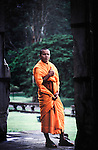 Buddhist monk at Angkor Wat, Cambodia.