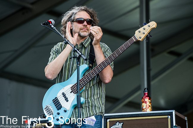 Keith Moseley of The String Cheese Incident performs during the New Orleans Jazz & Heritage Festival in New Orleans, LA.