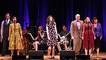 Edie Brickell with the cast  on stage during 'Bright Star' In Concert at Town Hall on December 12, 2016 in New York City.