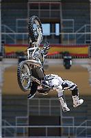 Training Red Bull X-Fighters 2012. Madrid. Rider In the picture Javier Villegas CHI. July 19, 2012. (ALTERPHOTOS/Ricky Blanco) /NortePhoto.com<br />  <br /> **CREDITO*OBLIGATORIO** *No*Venta*A*Terceros*<br /> *No*Sale*So*third* ***No*Se*Permite*Hacer Archivo***No*Sale*So*third*©Imagenes*con derechos*de*autor©todos*reservados*.