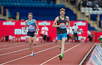 Tom BOSWORTH of GBR wins the Walk (1000m) vs Run (1400m) race in a time of 3.28.28 beating Adam Clarke of GBR during the Muller Grand Prix Birmingham Athletics at Alexandra Stadium, Birmingham, England on 20 August 2017. Photo by Andy Rowland.