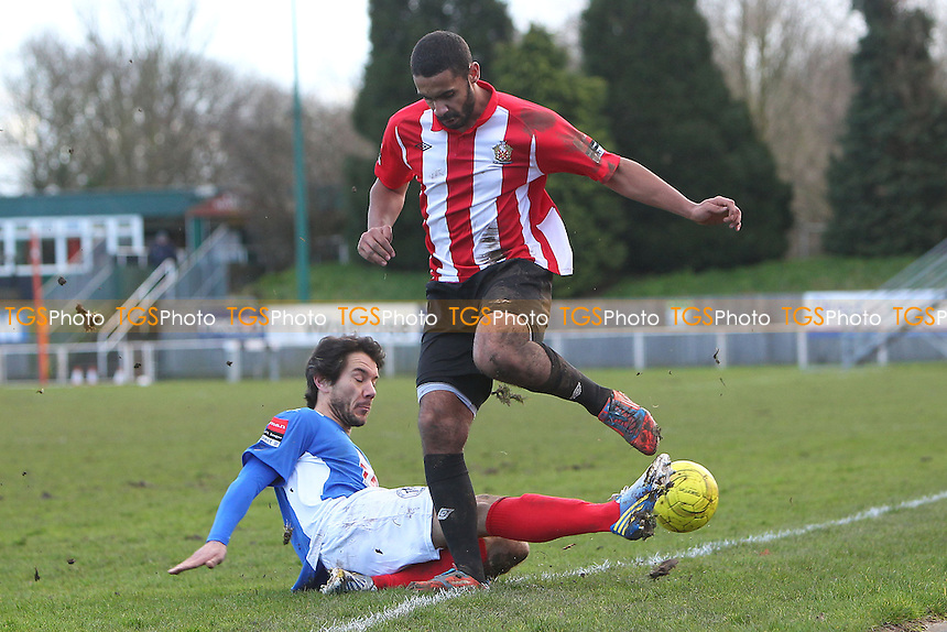 Stefan Payne in action for Hornchurch - AFC Hornchurch vs Leiston - Ryman League Premier Division Football at The Stadium, Bridge Avenue - 15/02/14 - MANDATORY CREDIT: Gavin Ellis/TGSPHOTO - Self billing applies where appropriate - 0845 094 6026 - contact@tgsphoto.co.uk - NO UNPAID USE