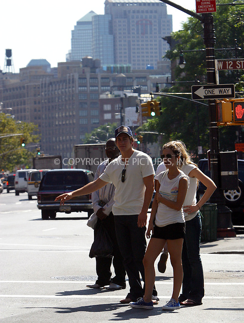 "*** EXCLUSIVE ***..""Spiderman"" star Kirsten Dunst was spotted taking a long stroll in Manhattan with her boyfriend Jake Gyllenhaal and a friend. It was fun trip for Kirsten and her party as they had good laughs while walking from Prince Street all the way to West 12th. In the end, Kirsten and Jake got thirsty and replenished their bodily fluids with delicious lemonade from Barrocco Cafe just before hauling a cab to go back to SoHo. Dunst was seen wearing wedding ring on her gold neck chain. New York, August 29, 2003. Please byline: NY Photo Press.   ..*PAY-PER-USE*      ....NY Photo Press:  ..phone (646) 267-6913;   ..e-mail: info@nyphotopress.com"