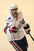 March 13, 2009:  Center Drew Larman (7) of the Rochester Amerks, AHL affiliate of the Florida Panthers, is named one of the games three stars after a game at the Blue Cross Arena in Rochester, NY.  Toronto defeated Rochester 4-2.  Photo copyright Mike Janes Photography 2009