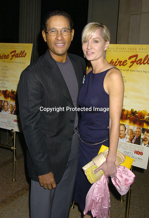 "Bryant Gumbel and wife Hilary ..at a screening of HBO Films ""Empire Falls"" at the Metropolitan Museum of Art on May 9, 2005..Photo by Robin Platzer, Twin Images"