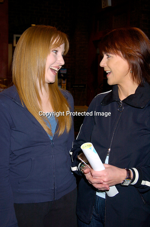 Jennifer Ferrin and Colleen Zenk Pinter ..at the As The World Turns 48th Anniversary party on the set on April 2,  2004. Photo by Robin Platzer, Twin Images