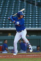 AZL Cubs 1 Carlos Pacheco (29) at bat during an Arizona League game against the AZL Athletics Gold at Sloan Park on June 20, 2019 in Mesa, Arizona. AZL Athletics Gold defeated AZL Cubs 1 21-3. (Zachary Lucy/Four Seam Images)