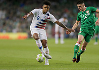 Dublin, Ireland - Saturday June 02, 2018: Weston McKennie during an international friendly match between the men's national teams of the United States (USA) and Republic of Ireland (IRE) at Aviva Stadium.