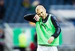 Solna 2015-10-04 Fotboll Allsvenskan AIK - Malm&ouml; FF :  <br /> Malm&ouml;s Anton Tinnerholm under uppv&auml;rmningen inf&ouml;r matchen mellan AIK och  Malm&ouml; FF <br /> (Foto: Kenta J&ouml;nsson) Nyckelord:  AIK Gnaget Friends Arena Allsvenskan Malm&ouml; MFF portr&auml;tt portrait