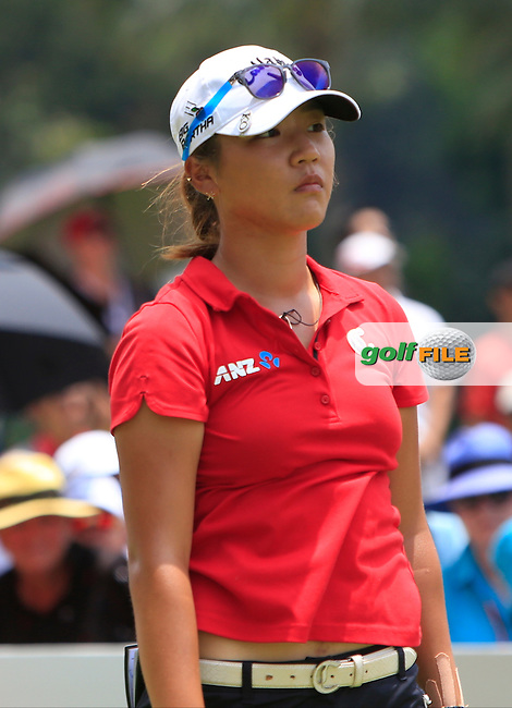 Lydia Ko (NZL) on the 13th tee during Round 4 of the HSBC Women's Champions at the Sentosa Golf Club, The Serapong Course in Singapore on Sunday 8th March 2015.<br /> Picture:  Thos Caffrey / www.golffile.ie